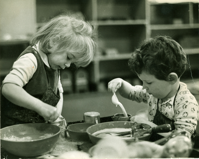 Children Measuring While Cooking, Undated