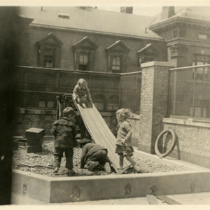IIIs Play on 12th Street Roof, 1920s